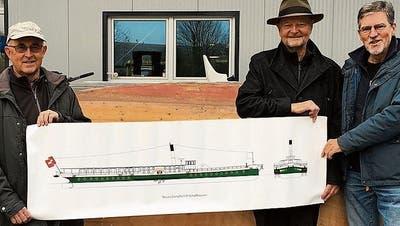 Schiffsmodell zügelt in Steckborner Werft