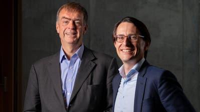 André Hoffmann (61) vertritt seine Familie im Verwaltungsrat von Roche, Jörg Duschmalé (35) wird im nächsten Jahr auf seinen Onkel Andreas Oeri folgen. (Severin Bigler, MAN)