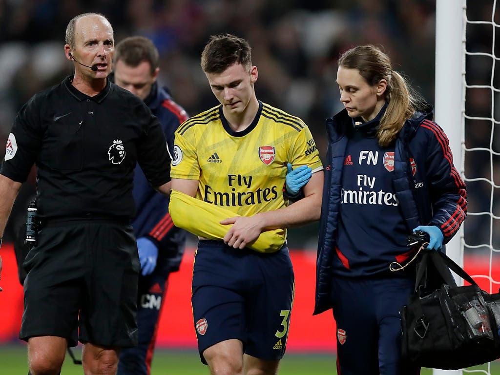 Arsenal fällt nichts ein und die Gunners verlieren früh auch Aussenverteidiger Kieran Tierney aufgrund einer Schulterverletzung