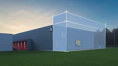 Eine Visualisierung des geplanten Anbaus auf der Ostseite der Turnfabrik. ((Bild: PD))