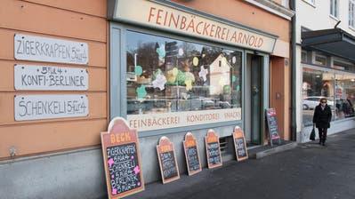 Die Bäckerei Arnold am Paulusplatz schliesst bald ihre Türen. (Bild: Boris Bürgisser, Luzern, 8. Februar 2019)