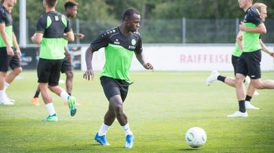 Im Sommer stiess Kekuta Mannehzum FC St.Gallen. (Bild: Ralph Ribi)