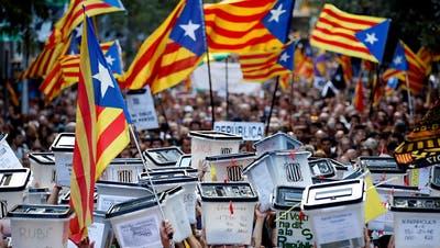 «Für die Geschichtsbücher»: Katalanische Separatisten vor Gericht
