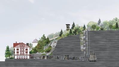 Querschnitt des Felsenwegs beim Gletschergarten, der derzeit erstellt wird. (Visualisierung: PD)