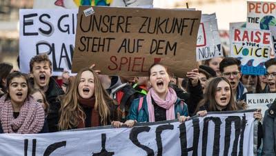 Klimastreik in der Stadt St.Gallen am 15. Februar. (Bild: Michel Canonica)