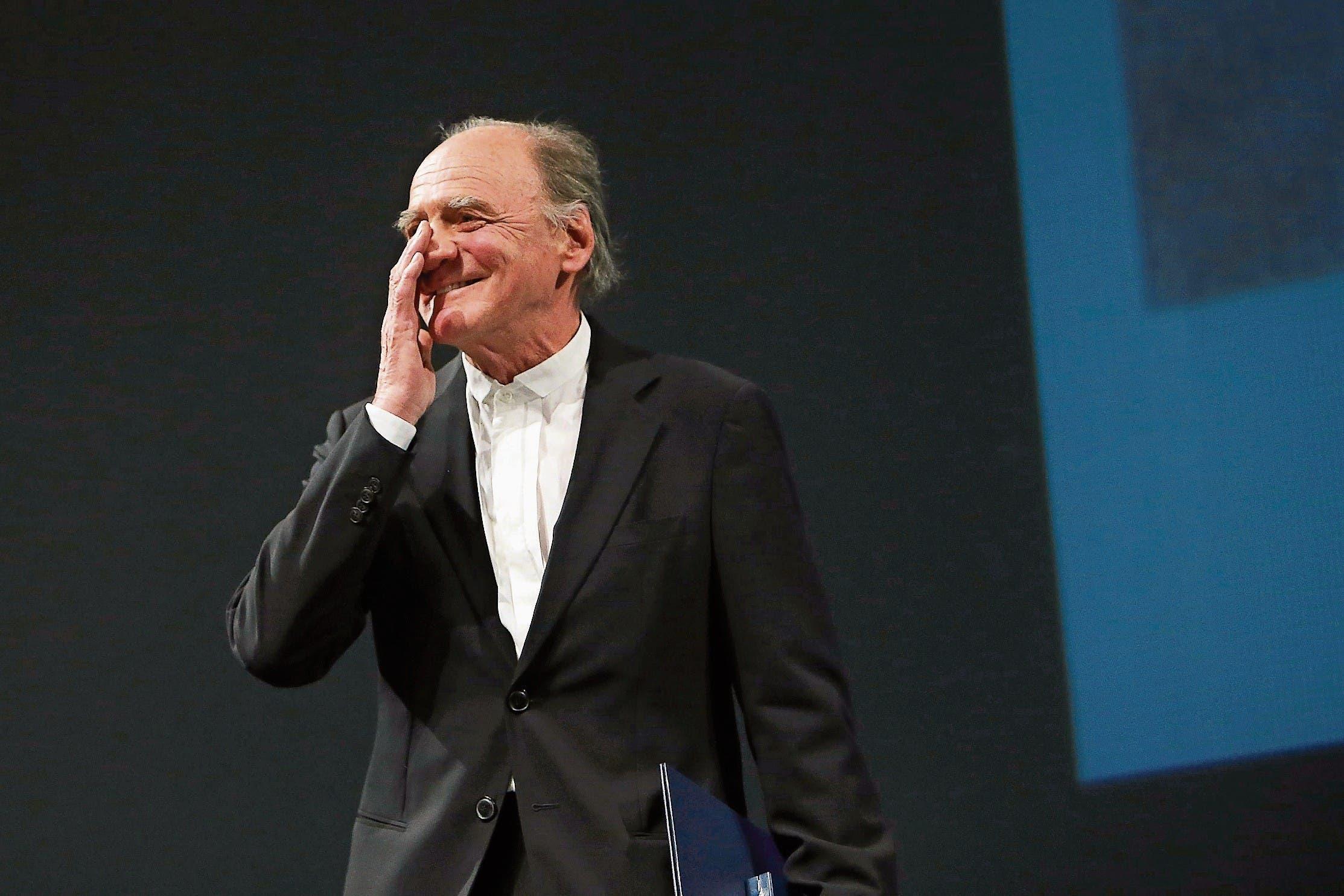 Ein Star, der menschlich und bescheiden war. Bewegter Bruno Ganz bei der Verleihung der Carl-Zuckmayer-Medaille in Mainz. (Bild: Fredrik von Erichsen/Keystone (18. Januar 2015))