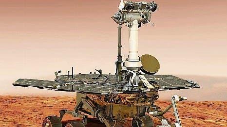War 15 Jahre im Einsatz: Mars-Roboter Opportunity. (Visualisierung: Nasa)