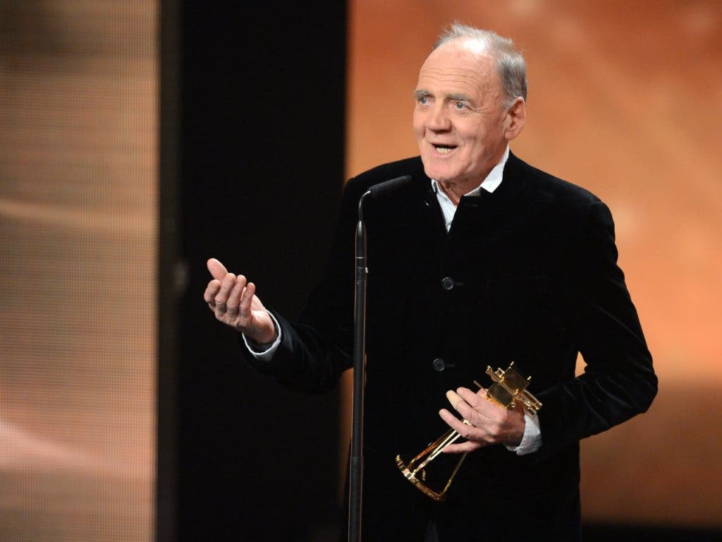 Am 1. Februar 2014 erhielt Bruno Ganz den Lifetime Achievement Award onstage bei der Goldenen Kamera-Preisverleihung. (Bild: KEYSTONE/EPA/BRITTA PEDERSEN / POOL)