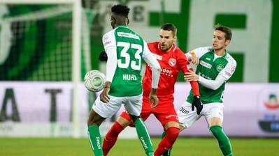 Goalgetter des Abends: Thuns Dejan Sorgicbrachte sein Team bereits in der 16. Minute in Führung. In der 70. Minute erhöhte der Stürmer dann zum 0:3. (Bild: Freshfocus)