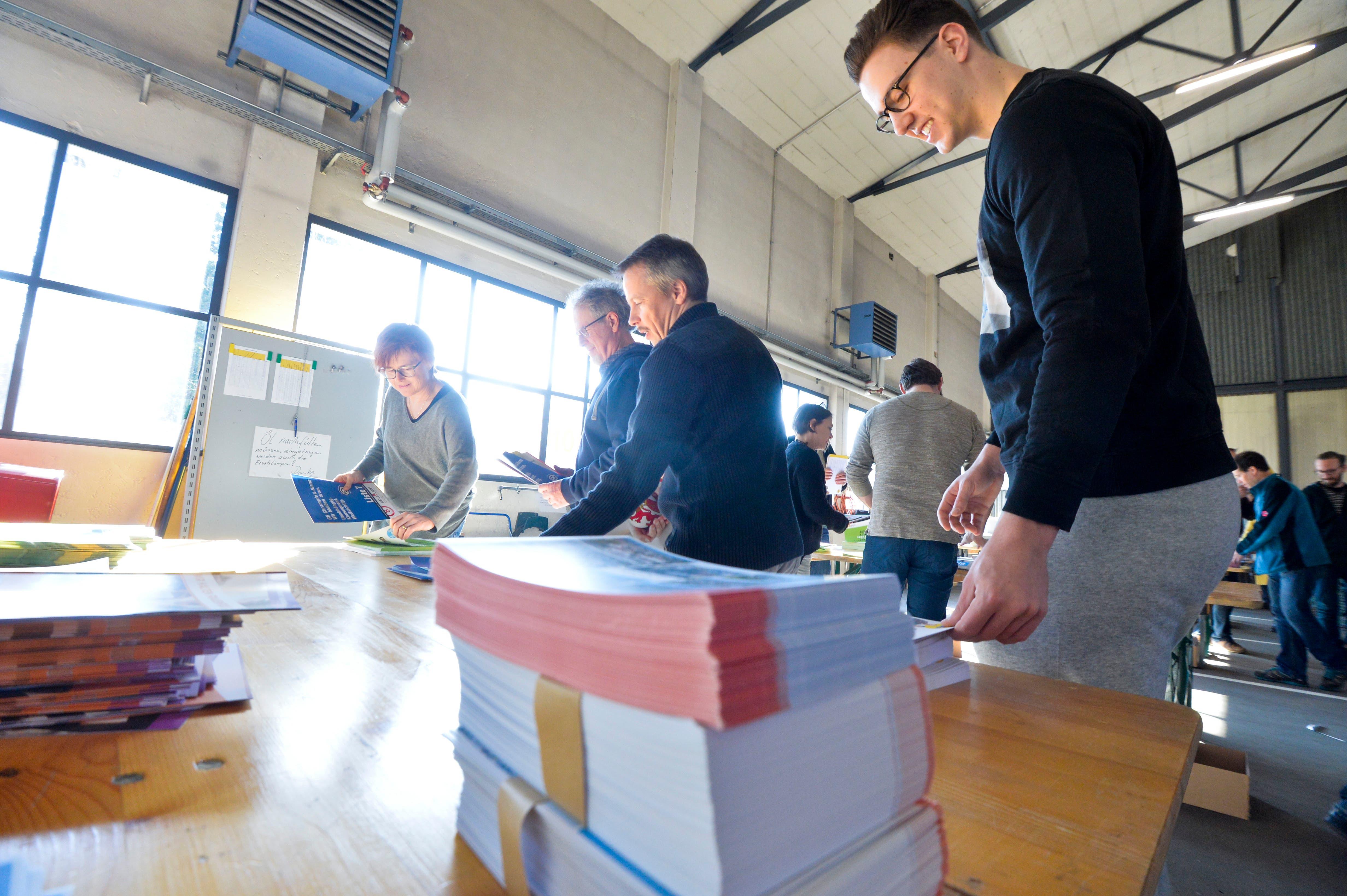 Frauenfeld TG, 16.02.2019 / Frauenfelder Gemeinderatswahlen: Verpackungsaktion der Parteien