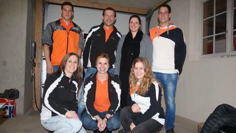 Vorstand des Turnvereins Wilen-Neunforn: Roman Kühne, Daniel Hofer, Jacqueline Egloff, Präsident Matthias Hagen, (hinten) undKerstin Wälchli, Angela Kobe, Samara Müller (vorne).