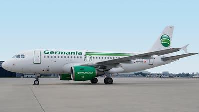 Die Schweizer Fluggesellschaft Germania Flug AG liegt nun vollständig in Händen von Schweizer Besitzern. Bisher gehörten 40 Prozent der Anteile der inzwischen Konkurs gegangenen deutschen Germania. (Bild: Gerry Ebner / Keystone)