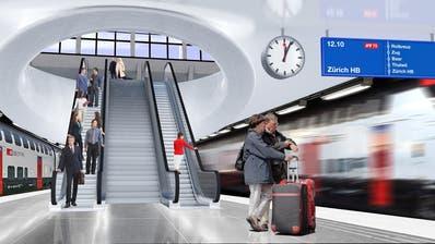 Visualisierung des Durchgangsbahnhofs Luzern. (Bild: PD)