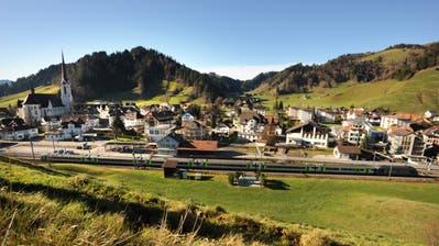 Blick auf das Dorf Escholzmatt. (Bild:Eveline Bachmann,25. November 2009)