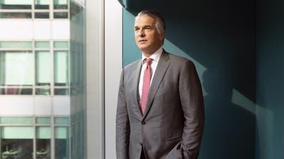 UBS-Chef Sergio Ermotti nach einem Interview in Singapur im vergangenen Herbst. (Bild: Wei Lang/Bloomberg, 17. September 2018)