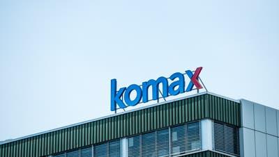 Komax Firmenlogo in Dierikon(Neue LZ/Roger Gruetter)