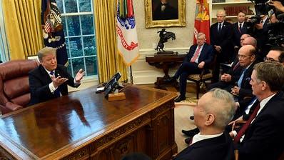 Trump sieht Fortschritte im Handelsstreit zwischen USA und China