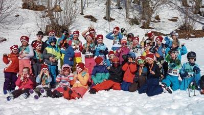 Beim Schülerski- und Clubrennendes Skiclubs Sennwald wurde ordentlich auf's Tempo gedrückt