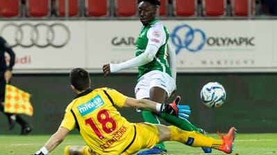 Axel Bakayoko (rechts) wird immer gefährlicher: Gegen Sion trifft er im dritten Spiel in Folge. (Bild: Pascal Muller/Freshfocus)