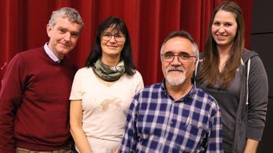 Beat Dönni, Margie Koster, Edi Scheiwiller, Isabelle Pfäffli leiten den Verein. (Bild: Markus Bösch)