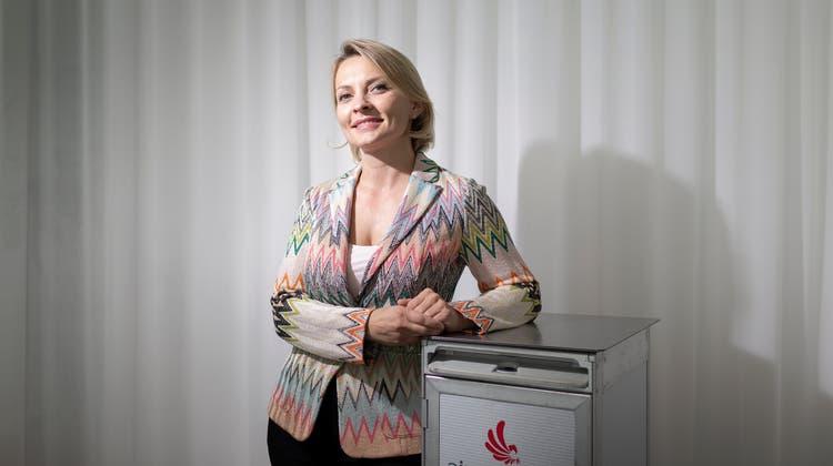 Leyla Ibrahimi-Salahi, Chefin der Air Prishtina, hat den Schweizer Ableger der Germania übernommen. Bild: Michele Limina (Zürich, 20. September 2018)