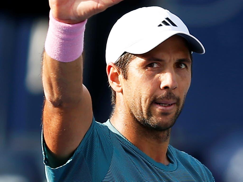 Federers nächster Gegner in Dubai ist der Spanier Fernando Verdasco, gegen den er noch nie verloren hat (Bild: KEYSTONE/EPA/ALI HAIDER)