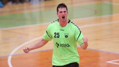 Jernej Papezbei einem Spiel mit seinem früheren Verein Krka. Bild: (zvg)