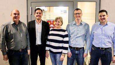 Der aktuelle Bettwieser Gemeinderat:Gemeindepräsident Patrick Marcolin, Marc Steiner, Margrith Jucker-Brunschwiler, Andreas Bosshart und Michael Ruckstuhl. (Bilder: PD)