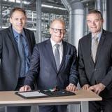 Strategische Ebenen neu ausgerichtet: auf Markus (links) und Christof Züger (rechts) folgt Martin Gehrer als Verwaltungsratspräsident. (Bild: PD)