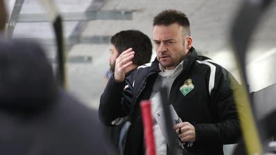 Trainer Stephan Mair begrüsst die spielfreie Woche und die beiden Auswärtsspiele des HC Thurgau zum Abschluss der Qualifikation. (Bild: Mario Gaccioli, Weinfelden, 20. Januar 2019)