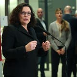 SPD-Chefin Andrea Nahles. Bild: Adam Berry/EPA (Berlin, 10. Januar 2019)