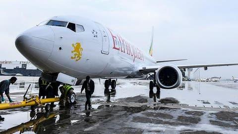 Eine Boeing 737 Max 8 der äthiopischen Fluggesellschaft Ethiopian Airlines. Eine Maschine gleichen Typs stürzte am Sonntag kurz nach dem Start ab. Alle 157 Insassen starben. (Bild: Keystone)