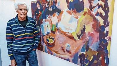 Der Aadorfer Anton Schäfli malt zwischen den Zeilen