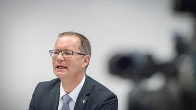 Regierungsrat Walter Schönholzer an der Medienkonferenz zum «Untersuchungsbericht Hefenhofen». Noch heute belastet ihn der Fall Hefenhofen schwer. (Bild: Andrea Stalder, 31. Oktober 2018)