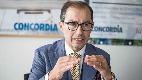 Concordia-CEO Nikolai Dittli im Hauptsitz des Krankenversicherers in Luzern. (Bild: Manuela Jans-Koch, 7. März 2019)