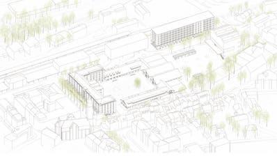 Das Siegerprojekt «All Day Long» mit Stadtkaserne, P+R-Halle-Areal und Oberes Mätteli. (Bild: PD/Park Architekten Zürich)