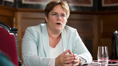 SVP Nationalrätin Magdalena Martullo-Blocher beim Interview. (Bild: Claudio Thoma, Bern, 14. März 2019)