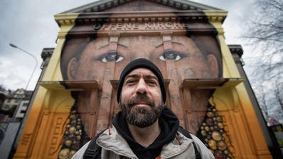 Er hat das bekannteste Gesicht der Stadt St.Gallen auf die Fassade der Offenen Kirche gesprayt