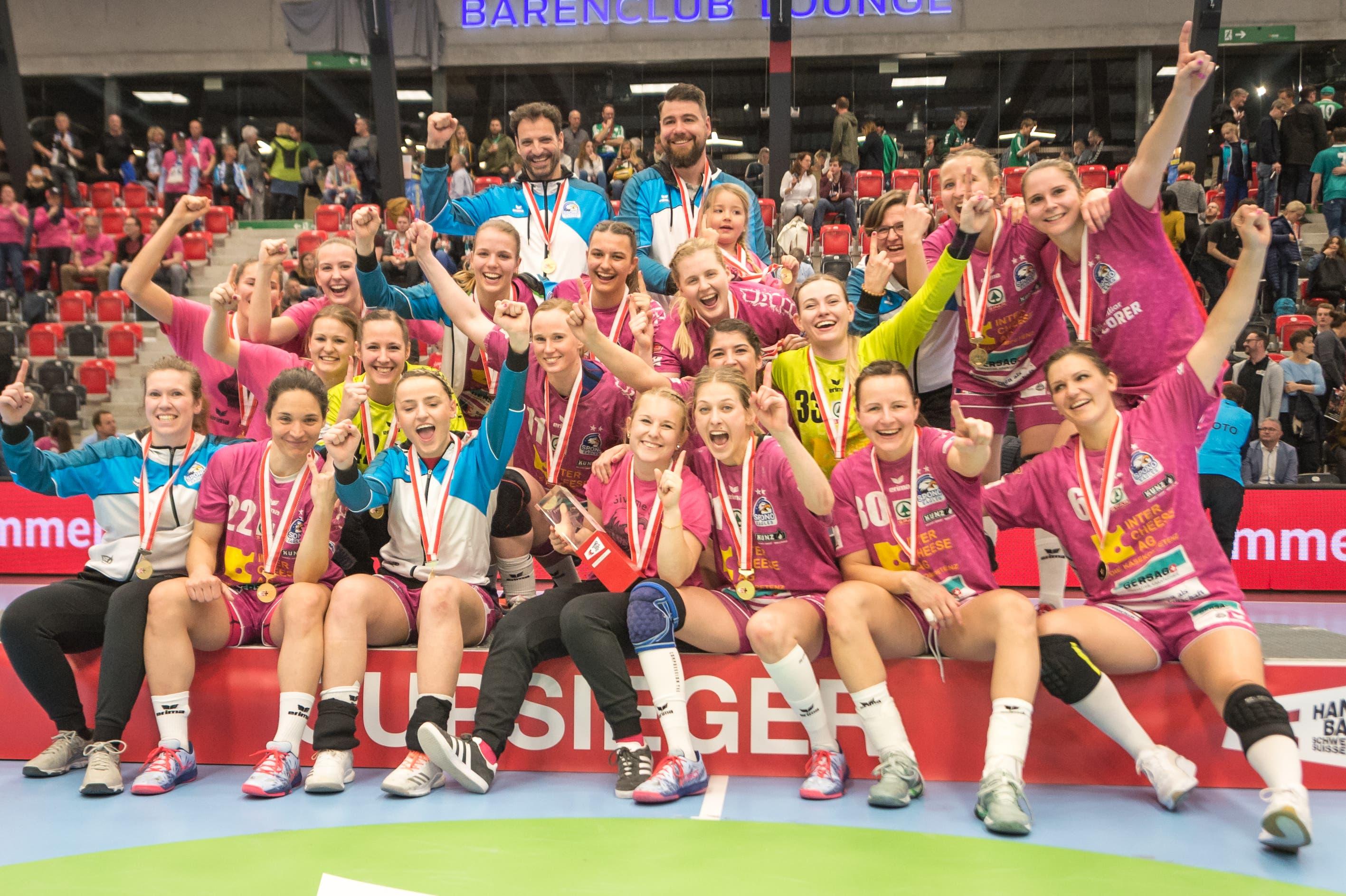 Spono Eagles ist Cupsieger. (Bild: Roger Grütter, Muri bei Bern, 17. März 2019)