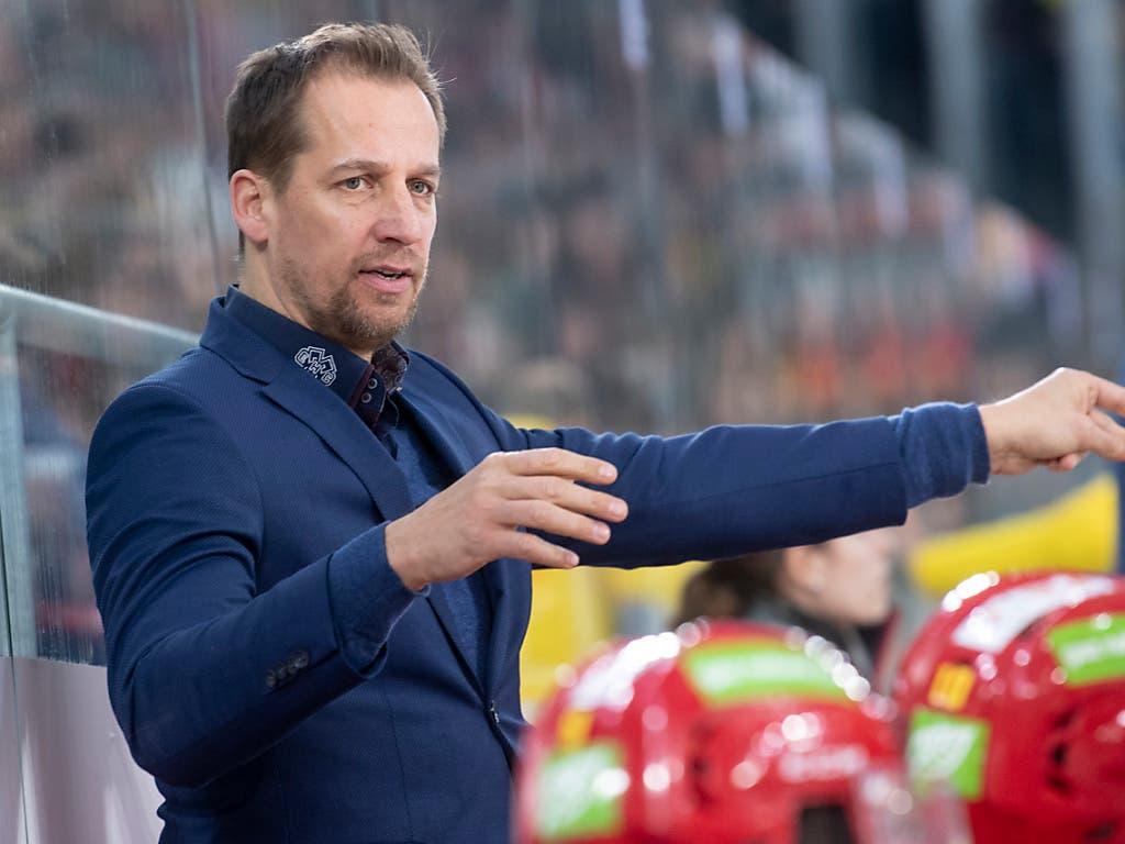 Antti Törmänen führte den EHC Biel erneut in die Playoff-Halbfinals (Bild: KEYSTONE/MARCEL BIERI)