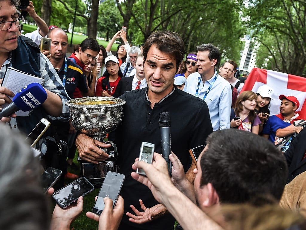 29. Januar 2017: Die längste Durststrecke Federers endet am Australian Open mit dem 89. Titel (Bild: KEYSTONE/EPA/FILIP SINGER)