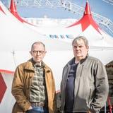 Schlafen nicht im selben Wohnwagen: Victor Giacobbo und Mike Müller (Bild: Mareycke Frehner)
