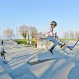 Der Skaterpark auf dem Seeparkareal wird bereits wieder rege genutzt. (Bild: Donato Caspari)