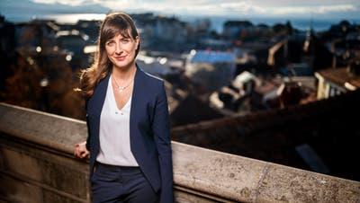 Zieht als fünfte Frau in die siebenköpfigen Regierung des Kanton Waadt ein: Rebecca Ruiz (37). (Valentin Flauraud/Keystone, Lausanne, 7. Dezember 2018)
