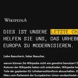 «Dies ist unsere letzte Chance»: Wikipedia ist abgeschaltet – das müssen Sie wissen