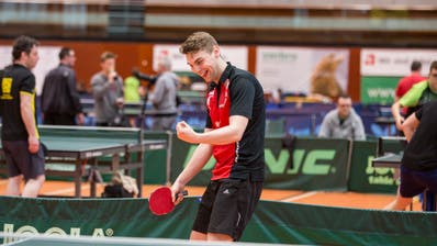 Michal Kubat bestreitet mit dem Tischtennisclub St.Gallen die Aufstiegsspiele.(Bild: Mareycke Frehner)