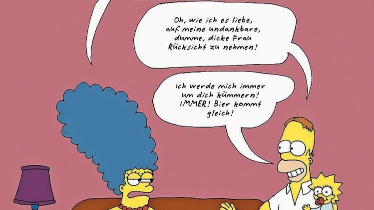 Rollentausch im Comic: «Homer, bring mir mein Bier!»