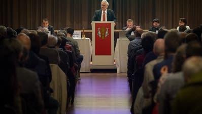 Am Dienstagabend führte Stadtpräsident Thomas Müller zum letzten Mal durch die Bürgerversammlung Rorschach. (Bild: Benjamin Manser)