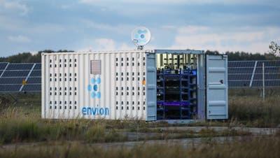 In solchen Containern führteEnvion die energieintensive Schürfung von Kryptowährungen durch. (PD)