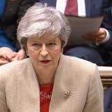 Premierministerin Theresa May am Freitag im britischen Parlament. (Bild: HandyoutParlament / EPA)